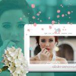 Дизайн сайта агентства свадебной видеосъемки главная/ allakrasnova.ru