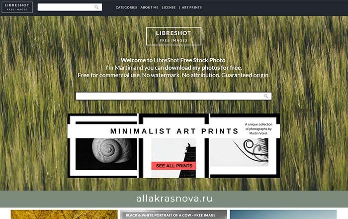 Libreshot — бесплатный фотосток с фотографиями высокого разрешения